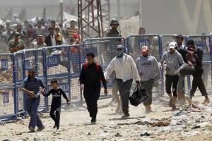 бежанци на границата 5