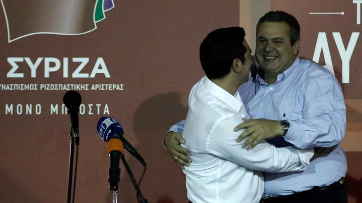 сириза и независими гърци