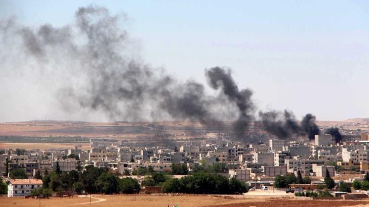 въздушна атака русия срещу сслямска държава