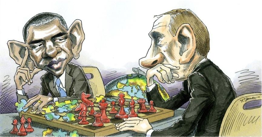 путин и обама шах