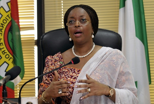 Nigeria's Minister of Petroleum Diezani Allison-Madueke speaks at a media briefing on a new gas price regime in the capital of Abuja May 27, 2010.Nigeria's state power company will pay energy companies, such as Royal Dutch Shell and ExxonMobil more for their gas to encourage investment and boost supply capacity, the oil minister said on Thursday.REUTERS/Afolabi Sotunde (NIGERIA - Tags: POLITICS ENERGY)