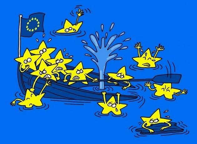 Европа потъва