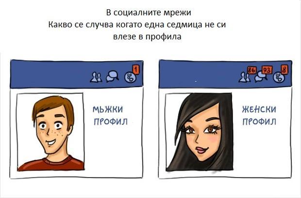 в социалните мрежи