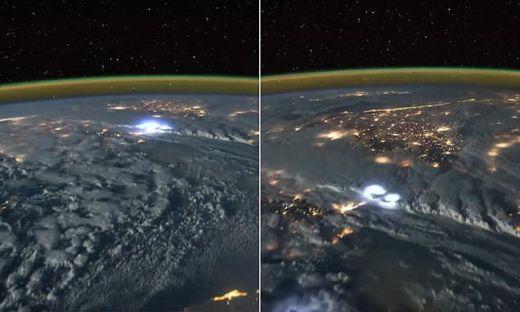 светкавици заснети от космоса