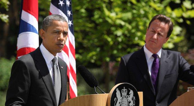 Обама и Камерън