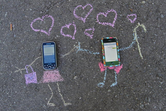 влюбени телефони