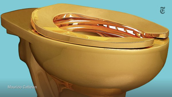 златна тоалетна чиния 1
