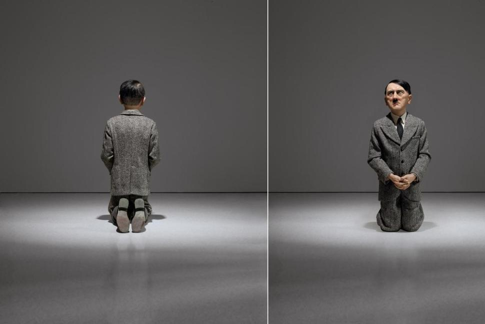 Statue of Hitler by Italian Maurizio Cattelan 3