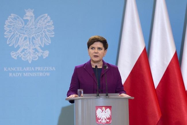 Полската министър-председателка Беата Шидло