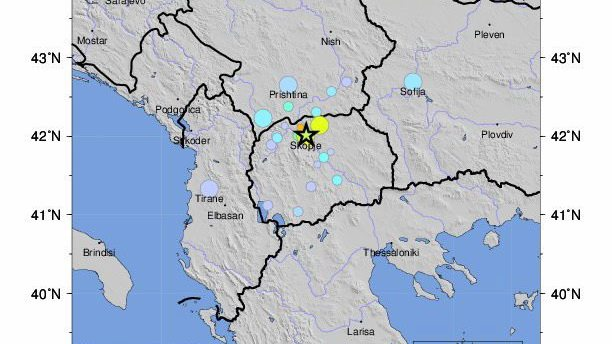 земетресение в Скопие
